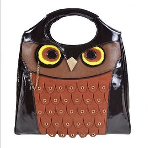 Kate Spade Maximilian Maxwell Owl Leather Handbag